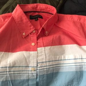Short sleeve button down shirt, wore once
